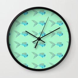 Fish Pattern Wall Clock