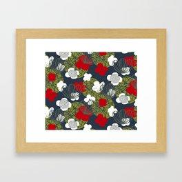 Kokedama Garden M+M Navy Black by Friztin Framed Art Print
