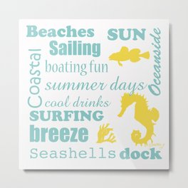 Beach Time Metal Print