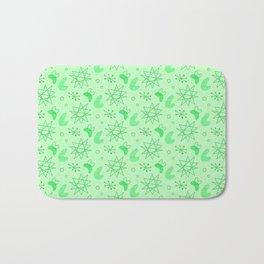 Neon Lime Green Midcentury Bath Mat