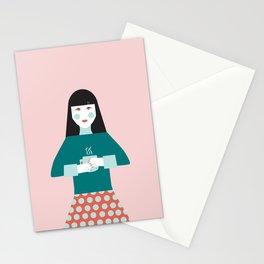 Coffee Break Woman Stationery Cards