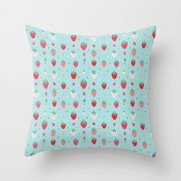 StrawberryPattern Throw Pillow