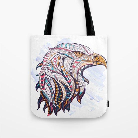 Colorful Ethnic Eagle Tote Bag