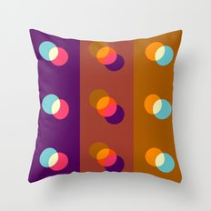 Overlapping circles Throw Pillow