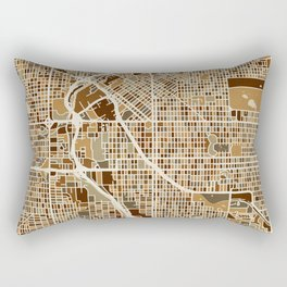 Denver Colorado Street Map Rectangular Pillow