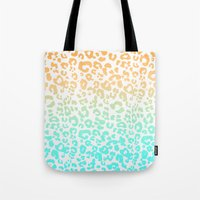 leopard Tote Bags featuring LeopARD by Monika Strigel®