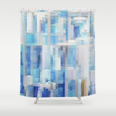 Abstract blue pattern 2 Shower Curtain
