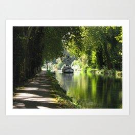 Canal de Garonne Art Print