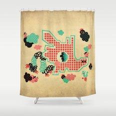 Dragon Playground Shower Curtain
