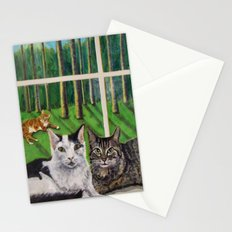 Window Cats Stationery Cards