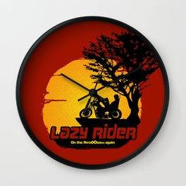 Lazy Rider Wall Clock