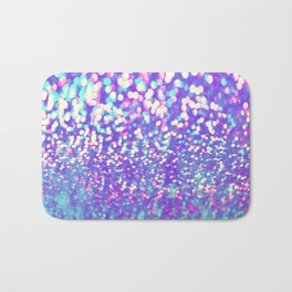 Colorful Mermaid Lights Bath Mat