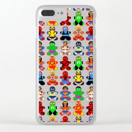 Superhero Gingerbread Man Clear iPhone Case