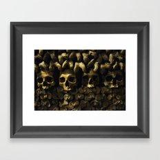 Skulls - Paris Catacombs Framed Art Print