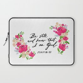 Be Still And Know Florals Laptop Sleeve