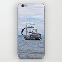 pirate iPhone & iPod Skins featuring Pirate by Caio Trindade