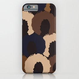 Afro Woman Faces iPhone Case