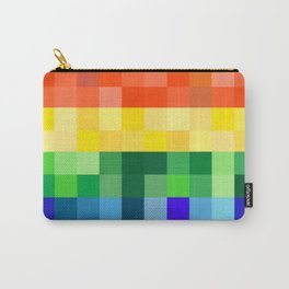 Pixelated Rainbow Carry-All Pouch