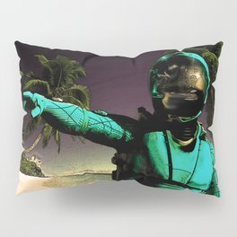 Tropical Astronaut Pillow Sham