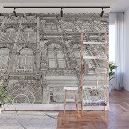 Facades - line art Wall Mural