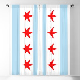 Chicago City Flag Windy City Standard Blackout Curtain