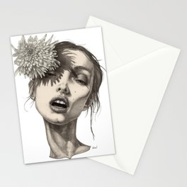 Katty and the big white flower Stationery Cards