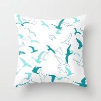 flight Throw Pillows featuring Flight  by Norman Duenas