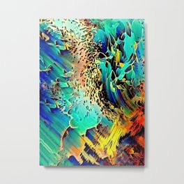 Oceanview reflections colorful abstract Metal Print