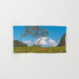 Single tree in Vinales Valley, Cuba Hand & Bath Towel