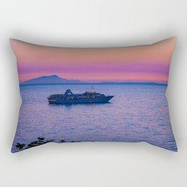 Cruise Ship at dusk Rectangular Pillow