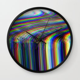 Glitch psychedelic background. Old TV Wall Clock
