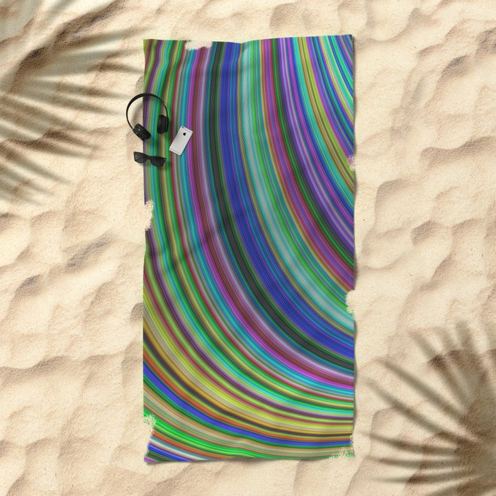 Striped fantasy Beach Towel