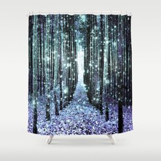 Magical Forest Lavender Aqua/Teal Shower Curtain