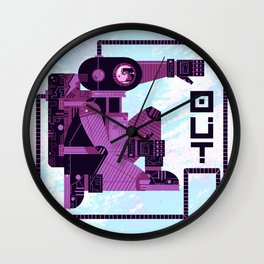 OUT (variation) Wall Clock