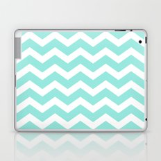 Blue Tiffany Chevron Laptop & iPad Skin
