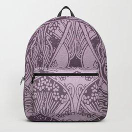 Lavender,art nouveau,vintage,beautiful,floral,belle époque,pattern,elegant, chic,modern,trendy Backpack