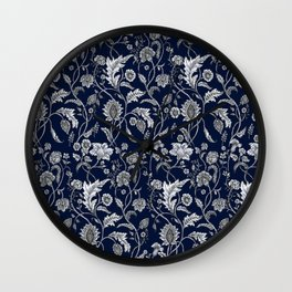 Blue Floral - 5 Wall Clock