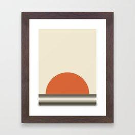 Sunrise / Sunset - Orange & Black Framed Art Print