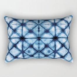 Shibori Paper Blues Rectangular Pillow