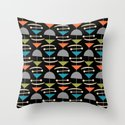 Retro Mid Century Modern Abstract Mobile 644 Gray Turquoise Olive Orange and Black by tonymagner