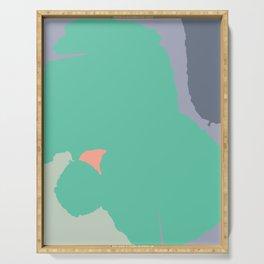 PAKKA - Mid Century Modern Abstract Green Serving Tray