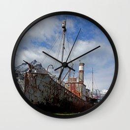 Whaling Ship Wall Clock
