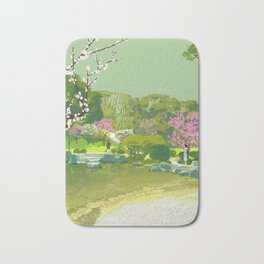 Ume Blossoms Bath Mat