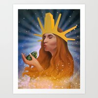 Princess Kiss Art Print