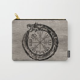 Ouroboros with Vegvisir Carry-All Pouch
