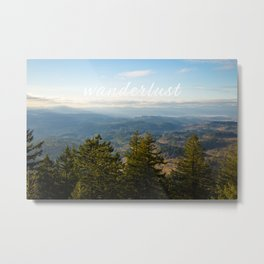 Forest and Mountains (with Text) Metal Print
