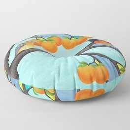 B. orioles in the stained glass tree Floor Pillow