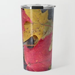 Red and Gold Leaves Travel Mug