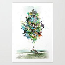 Aqualegia Art Print