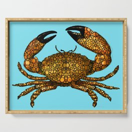 Stone Rock'd Stone Crab By Sharon Cummings Serving Tray